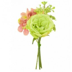 Artificial Cabbage Roses and Hydrangea Bundle Green - R118 Q4