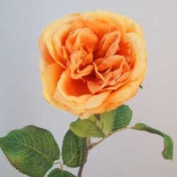 Artificial Cabbage Roses Amber Orange - R711