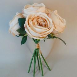 Artificial Cabbage Roses Posy Cappuccino - R768 I1