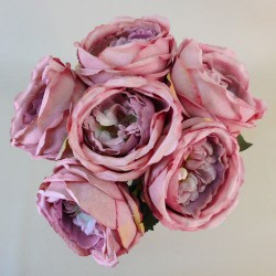 Artificial Cabbage Roses Posy Dusky Pink - R767 M1