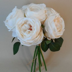 Artificial Cabbage Roses Posy Oyster Cream - R770 LL1