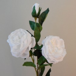 Artificial Cabbage Roses Spray White - R229 Q1