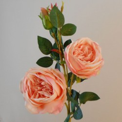 Artificial Cabbage Roses Coral Peach - R925 HH4