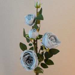 Artificial Cabbage Roses Spray Ice Blue - R863 R2