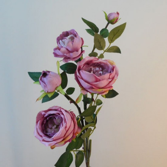 Artificial Cabbage Roses Spray Dusky Pink - R775 AA1