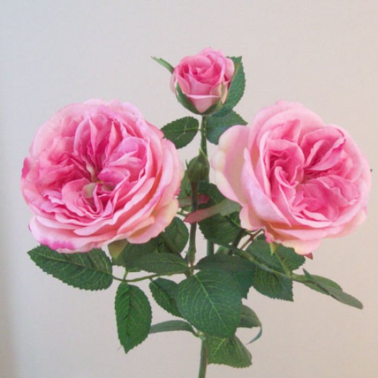 Artificial Cabbage Roses Spray Pale Pink - R656 P2