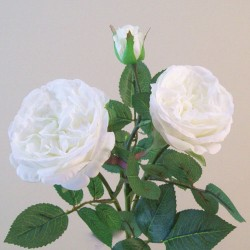 Artificial Cabbage Roses Spray White - R820 N4
