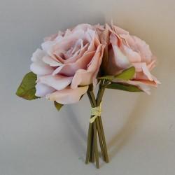 Artificial English Roses Bundle Blush Pink Peach - R484 N3