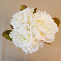 Artificial English Roses Bundle Cream Ivory - R455 S4