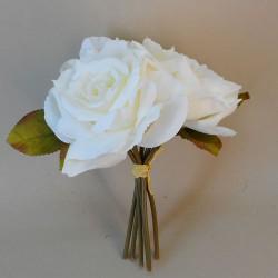 Artificial English Roses Bundle Cream Ivory - R455