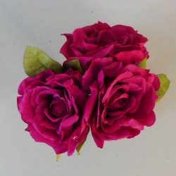 Artificial English Roses Bundle Hot Pink - R596 N1