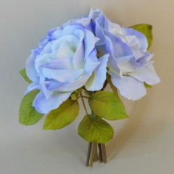 Artificial English Roses Bundle Hyacinth Blue - R378 N4
