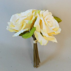 Artificial English Roses Bundle Lemon Yellow - R393 O3