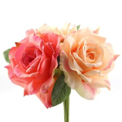 Artificial English Roses Bundle Mixed Pink - R645 P3
