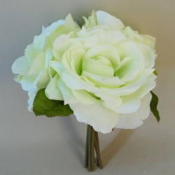 Artificial English Roses Bundle Pale Green - R395 O3