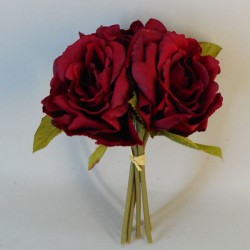 Artificial English Roses Bundle Red - R087 M4