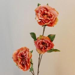 Artificial Roses Spray Apricot Floribunda - R504 Q1