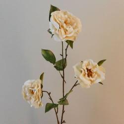 Artificial Roses Spray Cream Floribunda - R539 Q1