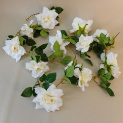 Artificial Flowers Garden Roses Garland Cream - R892 N1