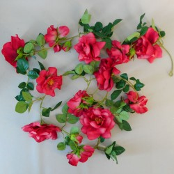Artificial Flowers Garden Roses Garland Red - R894 N1