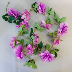 Artificial Flowers Garden Roses Garland Purple - R893 N1