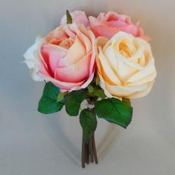Artificial Roses Bundle Pink and Vanilla - R696 R2