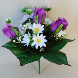 Springtime Bouquet Purple Roses and Daisies - S018 OF