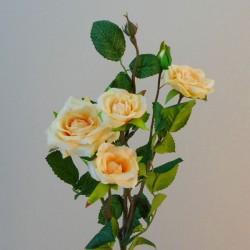 Artificial Garden Roses Spray Peach - R160 LL2