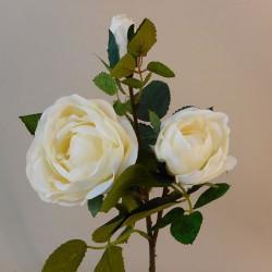 Artificial Old Rose Spray Cream (Short Stem) - R142 O2