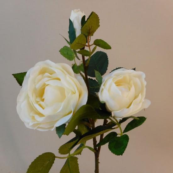 Artificial Old Rose Spray Cream (Short Stem) - R142 O4