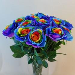 Artificial Rainbow Roses - R130 Q1