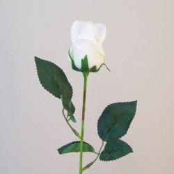 Artificial Real Touch Roses Buds Off White - R725 O2
