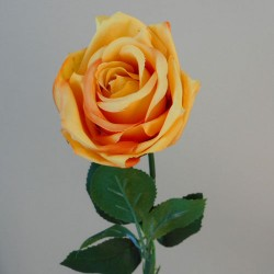 Artificial Rose Buds Saffron Yellow - R468 O3