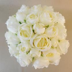 Artificial Roses Bundle Cream 25 Stems - R697 M1