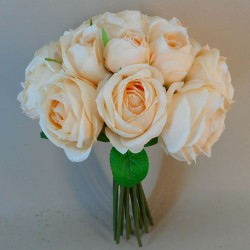 Artificial Roses Bundle Peach 15 Stems - R729 O4