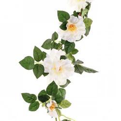 Artificial Wild Roses Garland Cream - R007A FF1