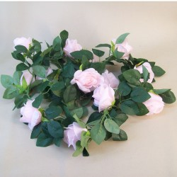 Artificial Roses Garland Pastel Pink - R225 R1