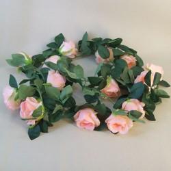 Artificial Roses Garland Peach - R853 R1