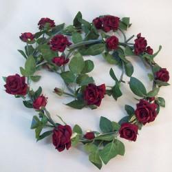 Artificial Roses Garland Red Velvet - R097 O1