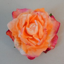 Artificial Roses Orange and Pink Heads Only - R061 N2