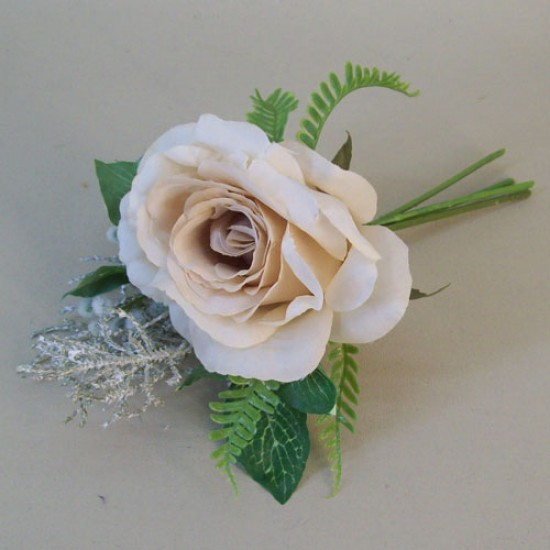Romance Rose and Leaves Posy Nude - R750 P4