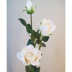 Artificial Roses Spray Cream Long Stem - R593 M4