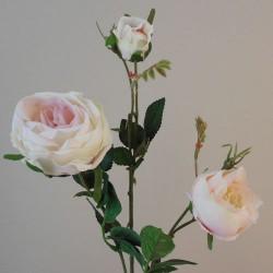 Artificial Rose Spray Pink Cream - R570 O2