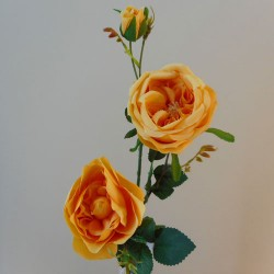 Artificial Rose Spray Saffron Yellow - R773 R1