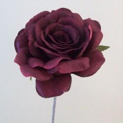 Artificial Roses Stem Burgundy no leaves - R654 P3
