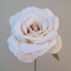 Artificial Roses Stem Rich Cream no leaves - R655 P3