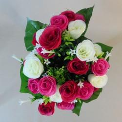 Artificial Roses Stephanotis and Asparagus Posy Pink Cream - R056 M4