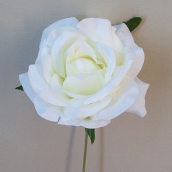 Silk Roses on Wire Stem Cream - R600 M2