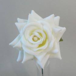 Artificial Silk Rose on Wire Stem Cream - R876 S3