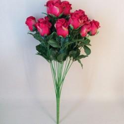 Artificial Rosebuds Bouquet Red x 16 56cm - R579 BX9